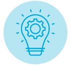 icon showing bright lightbulb