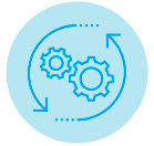 icon showing gears turning