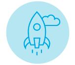 icon showing rocket launching